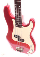 "1984 Squier Precision Bass 62 Reissue 32"" scale candy apple red"