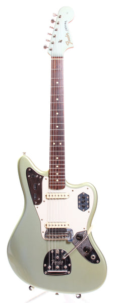 1999 Fender Jaguar American Vintage 62 Reissue matching headstock ice blue metallic