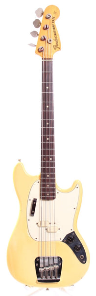 1974 Fender Mustang Bass olympic white