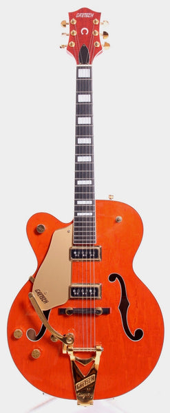 1995 Gretsch 6120 Dynasonic pickups lefty orange