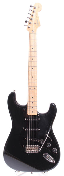 1991 Squier Stratocaster Silver Series black
