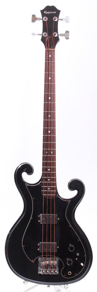 1981 Epiphone Scroll bass black