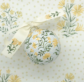 Yellow Floral Ornament
