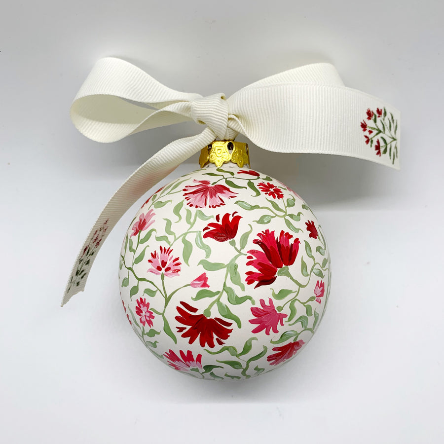 Holiday Red Floral Ornament