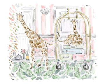 Giraffes on Vacation Print