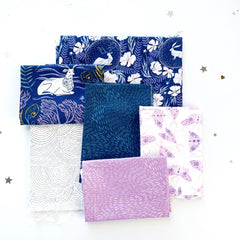 Fabric combos for Bat English Paper Pieced Along