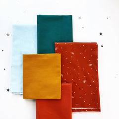 Fabric combos for the Bat English paper pieced along