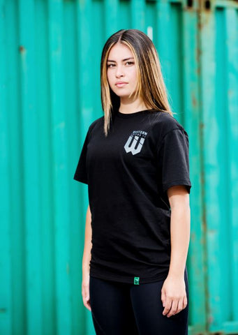 UNISEX BLACK MONOCHROME SUPPORTER T-SHIRT