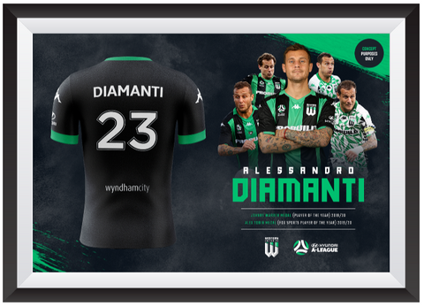 ALESSANDRO DIAMANTI FRAMED AUTHENTIC JERSEY