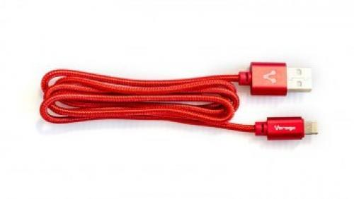 Cable Lightning USB/iPhone CAB119 Rojo Vorago