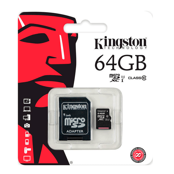 Memoria MicroSDCX con Adaptador 64 Gb Kingston