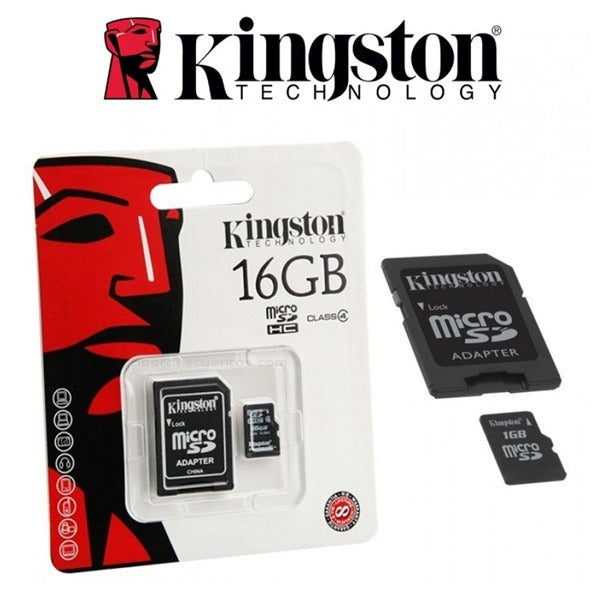 Memoria MicroSDHC con Adaptador 16 Gb Kingston