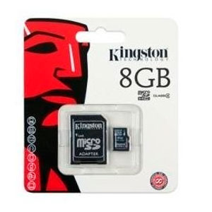 Memoria MicroSDHC con Adaptador 8 Gb Kingston