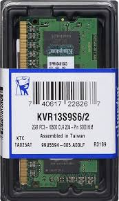Memoria Ram DDR3 PC3L-12800 Sodimm 2GB Kingston