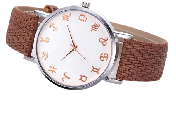 Brown Leather Astrology Watch