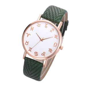 Green Leather Astrology Watch