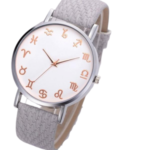 Grey Leather Astrology Watch