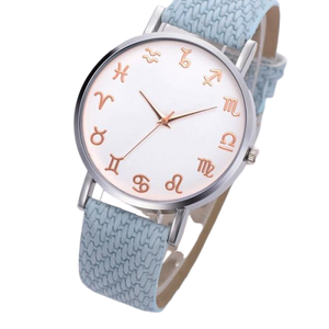 Sky Blue Leather Astrology Watch
