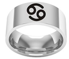 Cancer Titanium Ring