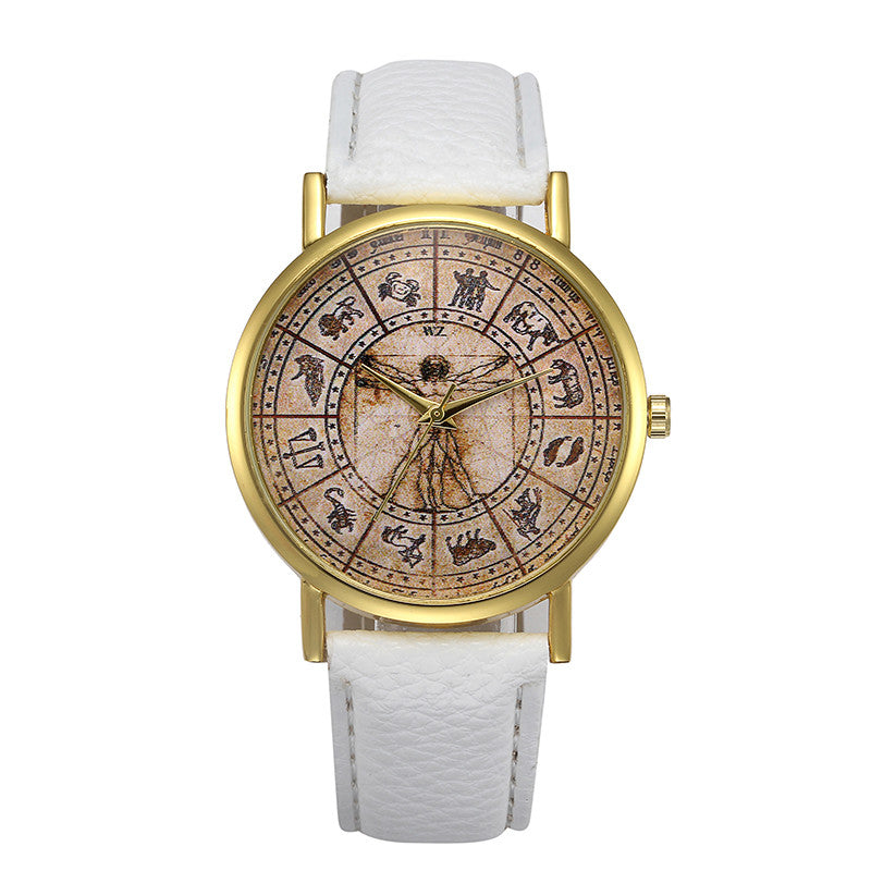 White Retro Design Watch