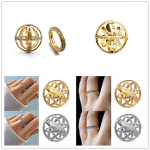 Gold Spherical Astro Ring