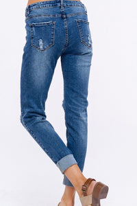 Five Pocket Distressed Jeans
