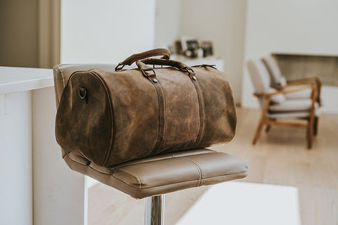 100% genuine leather Duffel Gym / Sports / travel / cabin Bag - Status Co. leather messenger bag, backpack, laptop bag, rucksack, briefcase, travel bag
