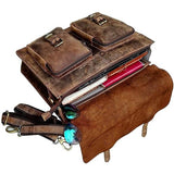 Rustic & Rugged Leather Laptop Messenger Bag