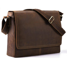 Load image into Gallery viewer, Unisex Buffalo Leather Messenger Bag