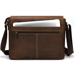 Unisex Buffalo Leather Messenger Bag