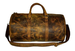 "20"" Buffalo Leather Duffel, Gym Bag, Travel Bag, Sports Bag - Status Co. Leather Studio"