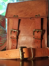 Load image into Gallery viewer, Mini Leather Crossbody Book Satchel