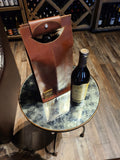 Classic Leather Wine Bottle Holder - Status Co. Leather Studio