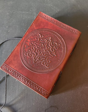 Leather Writing Journal Notebook | Diary Sketchbook Gifts | Travel Journals to Write in for Girls and Boys (Celtic Knot 5x7)-journal-Status Co. Leather Studio