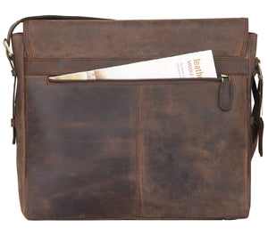 Buffalo Leather Laptop Messenger Bag