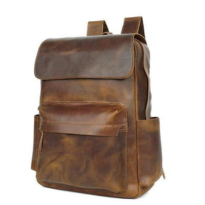 Vintage Buffalo Leather Rucksack