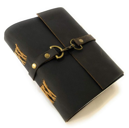 Strap & Lock Leather Bound Diary / Notepad