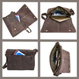 Buffalo Leather Full Flap Messenger Bag - Status Co. Leather Studio