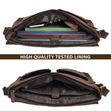 Buffalo Leather Full Flap Zipper Messenger Bag - Status Co. Leather Studio