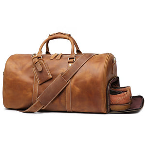 Men's Leather Duffle Bag, Leather Overnight Bag, Gym Bag - Status Co. Leather Studio