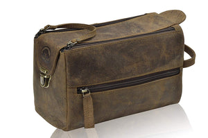 Genuine Leather Unisex Travel Toiletry Bag / Dopp Kit - Status Co. Leather Studio