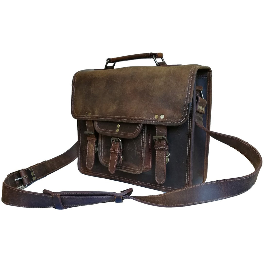 Buffalo Leather Hunter,  Crossbody, Laptop, Briefcase, Satchel Bag - Status Co. leather messenger bag, backpack, laptop bag, rucksack, briefcase, travel bag