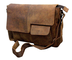 Leather Modern Styled Faded Handy Messenger Bag - Status Co. leather messenger bag, backpack, laptop bag, rucksack, briefcase, travel bag