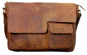 Leather Modern Styled Faded Handy Messenger Bag-messenger bag-Status Co. Leather Studio