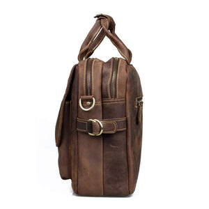 Buffalo Leather Shoulder Briefcase, Satchel Bag
