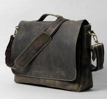 Load image into Gallery viewer, Handrafted Italian Crazy Horse Leather Briefcase