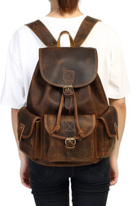 Vintage Hunter Buffalo Leather Rucksack