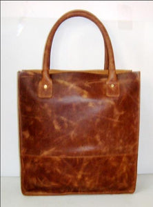 Women's Designer Tall Leather Tote Bag
