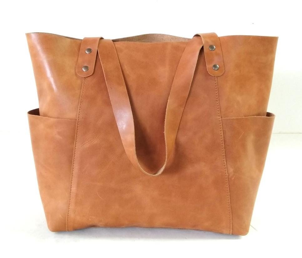 Cowhide Leather Designer Tote & Carry-On Bag