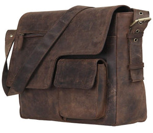 Buffalo Leather Laptop Messenger Bag - Status Co. leather messenger bag, backpack, laptop bag, rucksack, briefcase, travel bag
